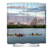 Kayaking On The Charles Shower Curtain