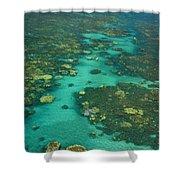 Kayaking Through Beautiful Coral Shower Curtain