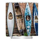 Kayaks 4 Shower Curtain