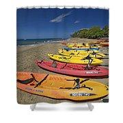 Kayas On Beach Shower Curtain