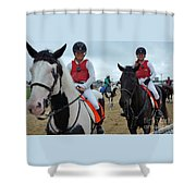 Kaymarie Kreidel And Lisa Mcklveen - Timonium Shower Curtain