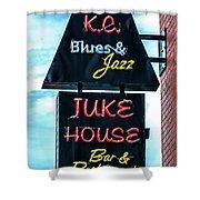Kc Blues Shower Curtain