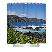 Keanae Peninsula, View Shower Curtain