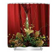 Keawalai Still Life Tropical Flowers Shower Curtain