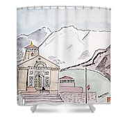 Kedarnath Jyotirling Shower Curtain