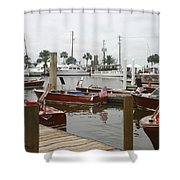 Keels And Wheels Shower Curtain