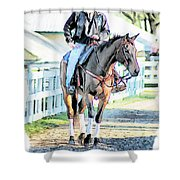 Keeneland Pony Boy Shower Curtain
