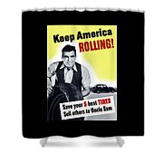 Keep America Rolling Shower Curtain