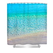 Keep Calm And Listen To The Sea Shower Curtain