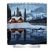 Keep The Home Fires Burning For The Weary Winter Traveler Shower Curtain