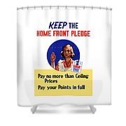 Keep The Home Front Pledge Shower Curtain