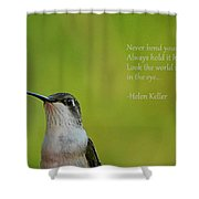 Keep Your Chin Up Shower Curtain