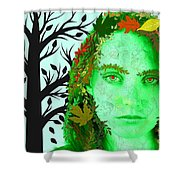 Keeper Of Autumn Shower Curtain