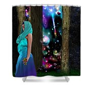 Keeper Of Other Worlds  Shower Curtain