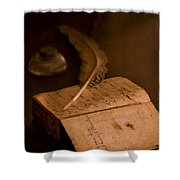 Keepers Journal Shower Curtain