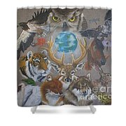 Keepers Of The Realm Shower Curtain