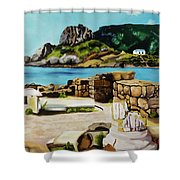 Kefalos, Greece Shower Curtain