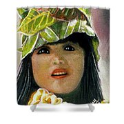Keiki Child In Hawaiian #115 Shower Curtain