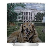 Kelli On The White House Lawn Shower Curtain