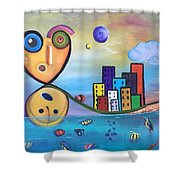 Kellyroy Series #4 Shower Curtain
