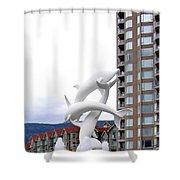 Kelowna Dolphins Shower Curtain