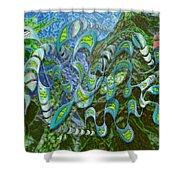 Kelp Dragon Shower Curtain
