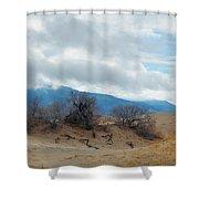 Kelso Dunes Winter Landscape Shower Curtain