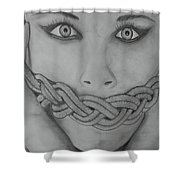 Keltic Silence Shower Curtain