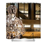Kendall Square Mit Alchemist Statue Shower Curtain