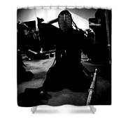 Kendo - Suiting Up For Examination Shower Curtain
