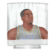 Kendrick Perkins Shower Curtain by Toni Jaso