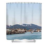 Seward Alaska Kenia Fjord Port Shower Curtain