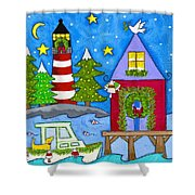 Kennebunkport Holiday Arrival Shower Curtain