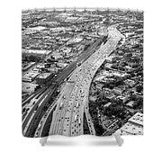 Kennedy Expressway And Chicago Skyline Shower Curtain