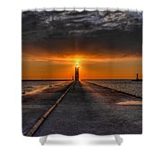 Kenosha Lighthouse Beacon Shower Curtain