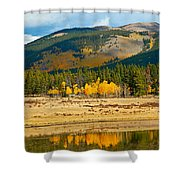 Kenosha Pass Aspens 4 Shower Curtain