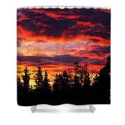 Kenosha Pass Sunrise Shower Curtain