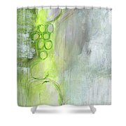 Kensho- Abstract Art By Linda Woods Shower Curtain