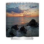Kent Island Mother's Day Sunset Shower Curtain