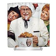 Kentucky Fried Chicken Ad Shower Curtain