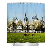 Revised Kentucky Horse Barn Hotel 2 Shower Curtain