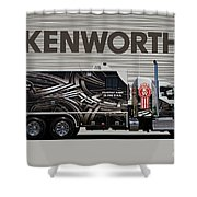 Kenworth Proudly Made In The Usa Shower Curtain