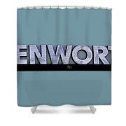 Kenworth Semi Truck Logo Shower Curtain