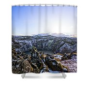 Kerid Crater Shower Curtain