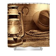 Kerosene Lantern Shower Curtain