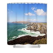 Kerry Cliffs Panoramic Shower Curtain