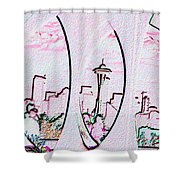 Kerry Needle 2 Shower Curtain