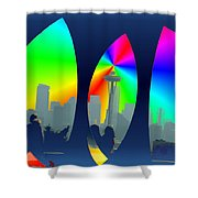 Kerry Needle 3 Shower Curtain