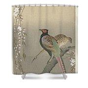 kersenbloesem Ohara Koson Shower Curtain