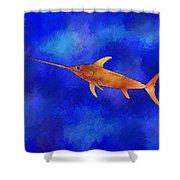 Kessonius V1 - Amazing Swordfish Shower Curtain